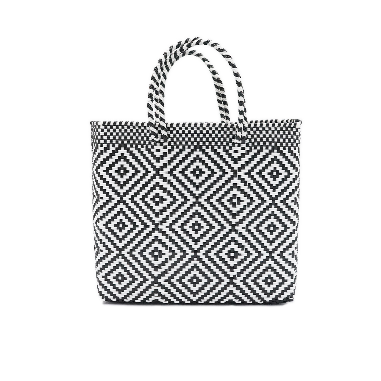 MERCADO BAG MULTI DIAMOND- Black x White(S)