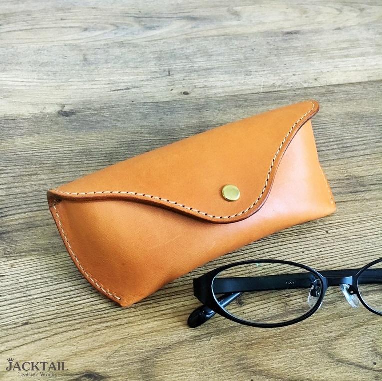 眼鏡ケース Sサイズ/オイルレザー(キャメル)