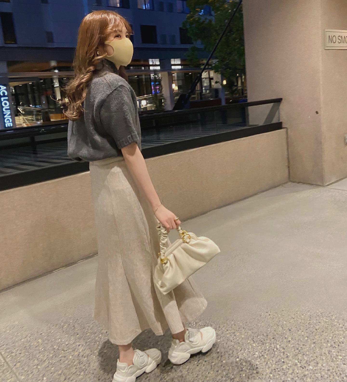 DAYNYC mermaid skirt (ivory)