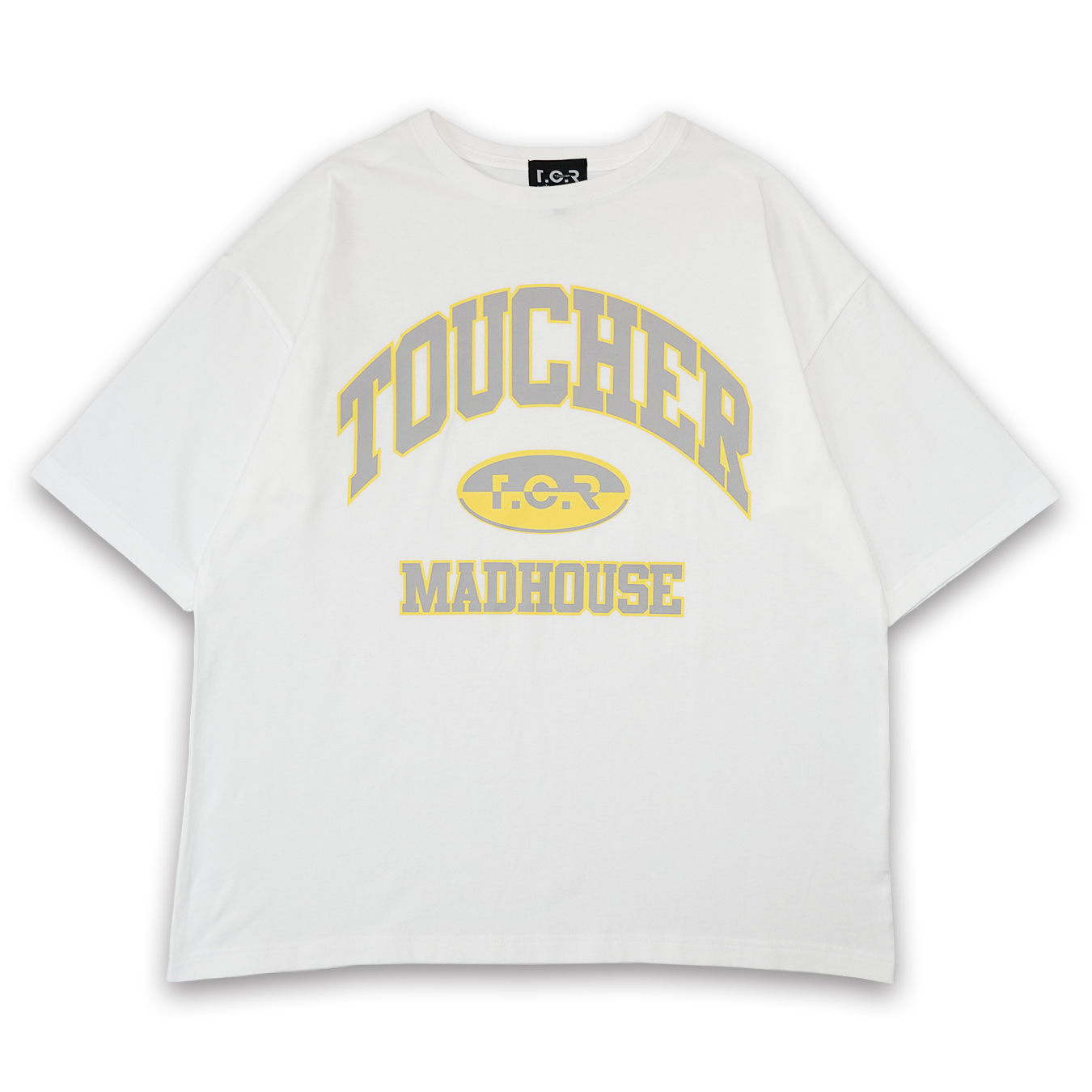 T.C.R MADHOUSE S/S TEE - WHITE / GRAY / YELLOW