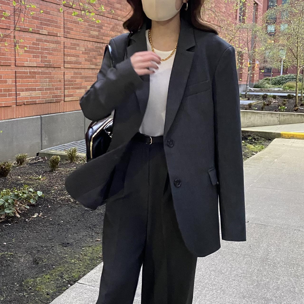 【LAST3】DAYNYC spring jacket(charcoal)