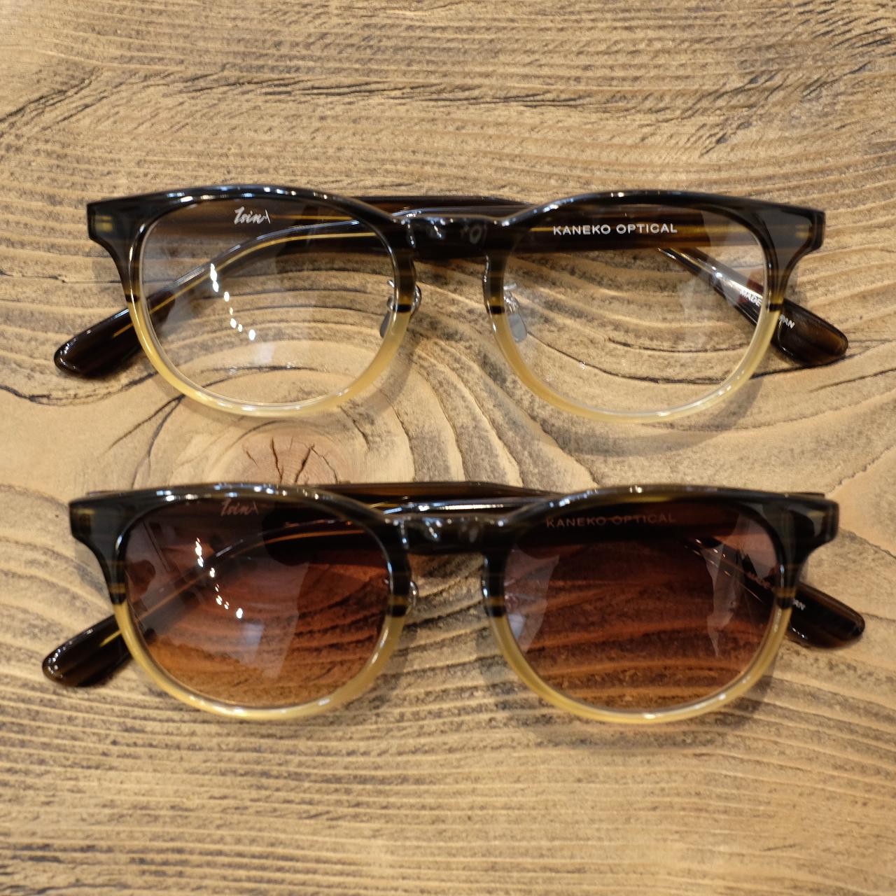 1sin(イッシン) CIRCLE別注innovator ブラウンハーフ 眼鏡・サングラス
