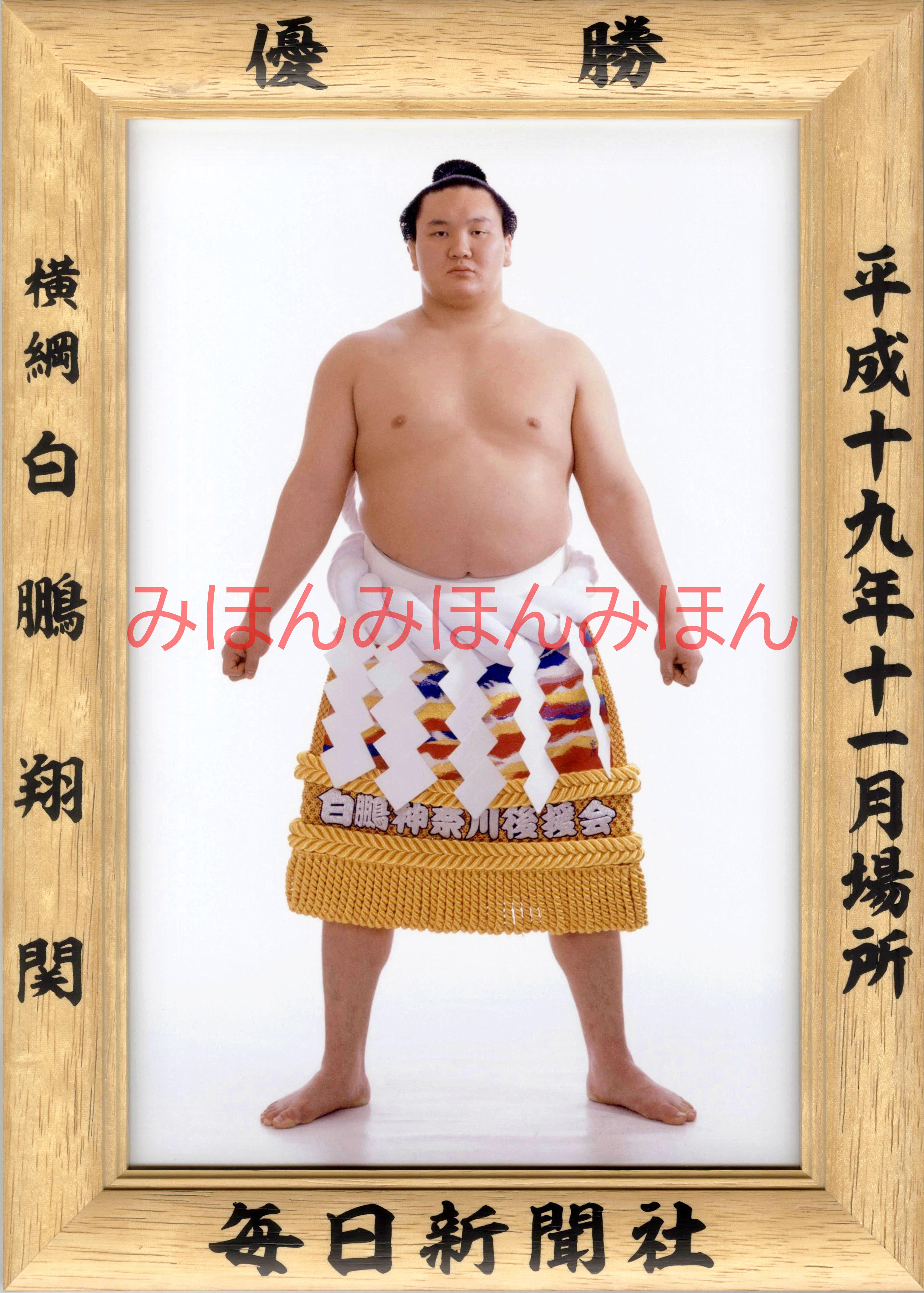 平成19年11月場所優勝 横綱 白鵬翔関(5回目の優勝)