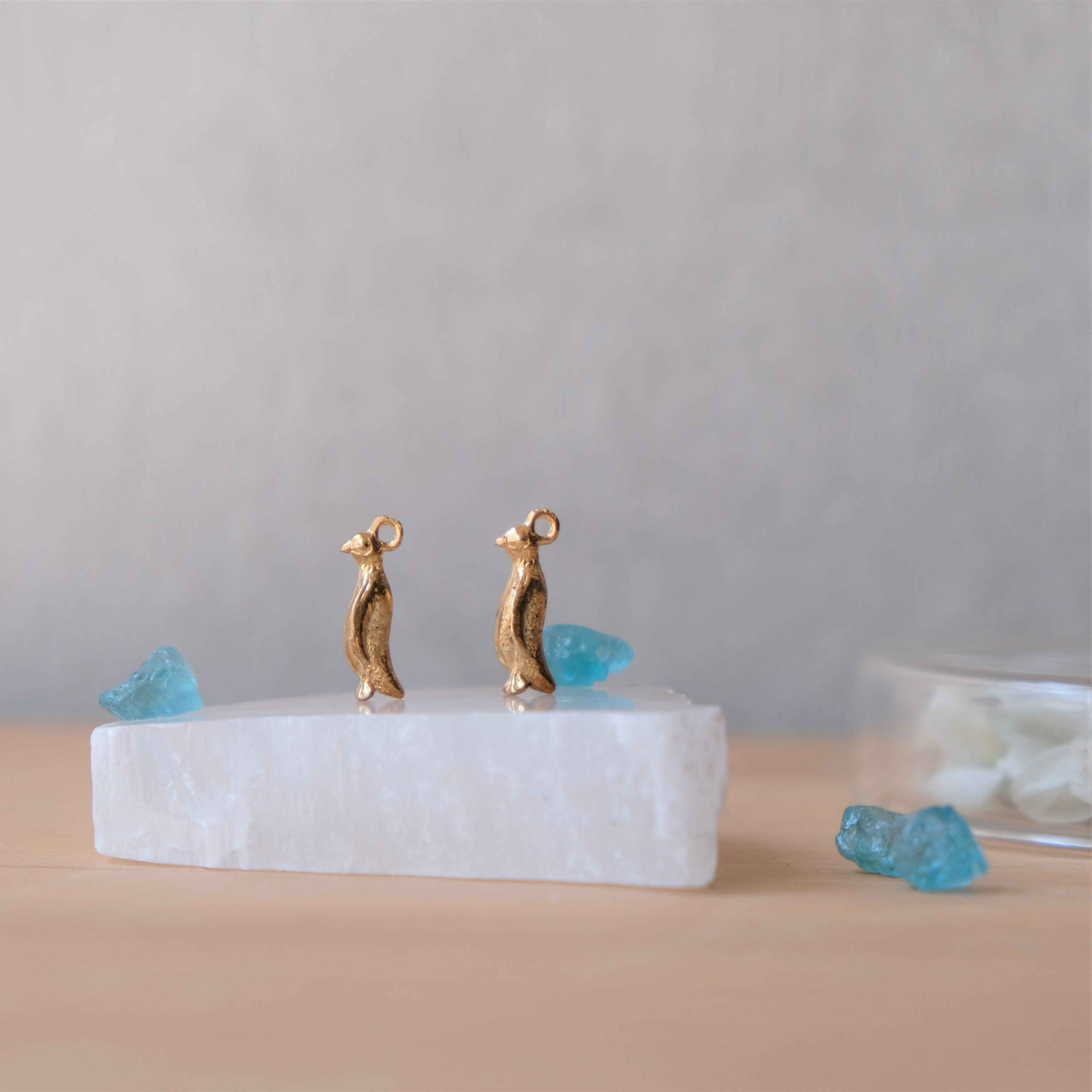 【ピアス/イヤリング】〖&S.〗Petit~氷塊のペンギン~