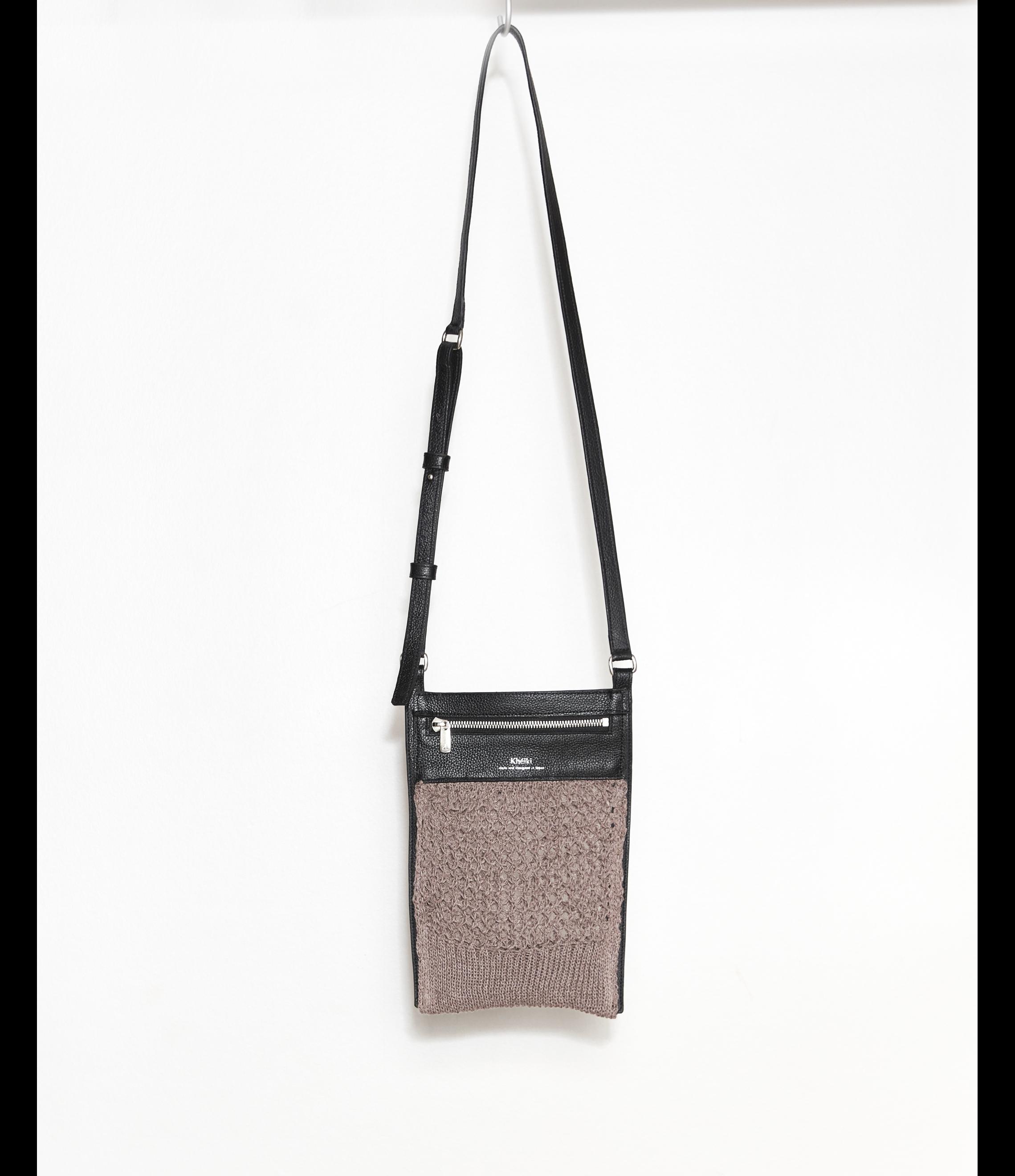Flat Shoulder Bag / Pink Beige