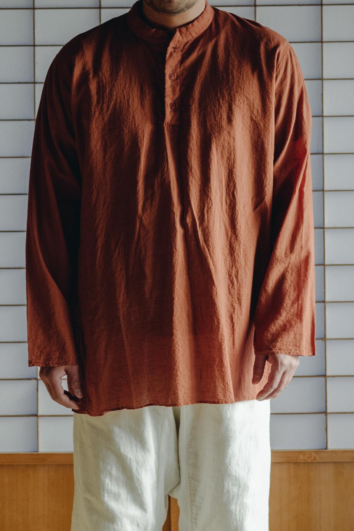 YAECA khadi ユニセックス |クルタシャツ cinnamon