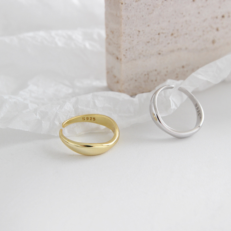 wave ring gold/silver r029