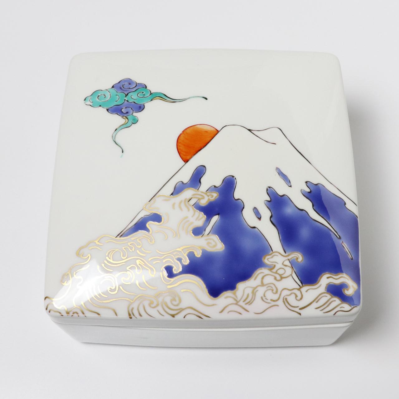 陶箱 波と富士