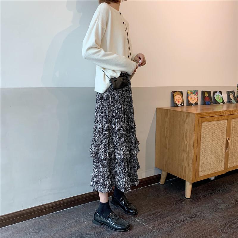 〈カフェシリーズ〉カフェに行きたくなるティアードスカート【cafe teared skirt】
