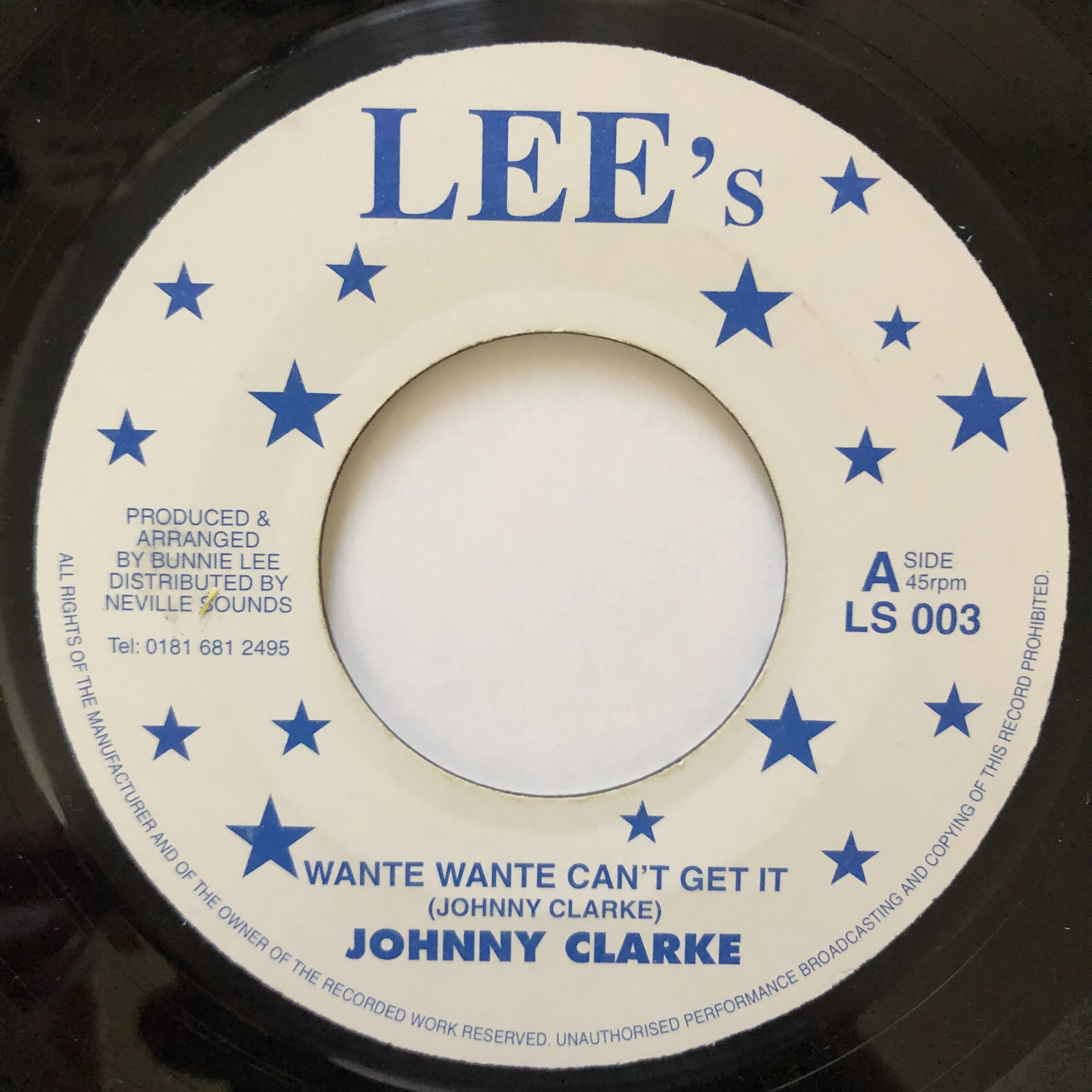 Johnny Clarke - Wante Wante Can't Get It【7-20563】