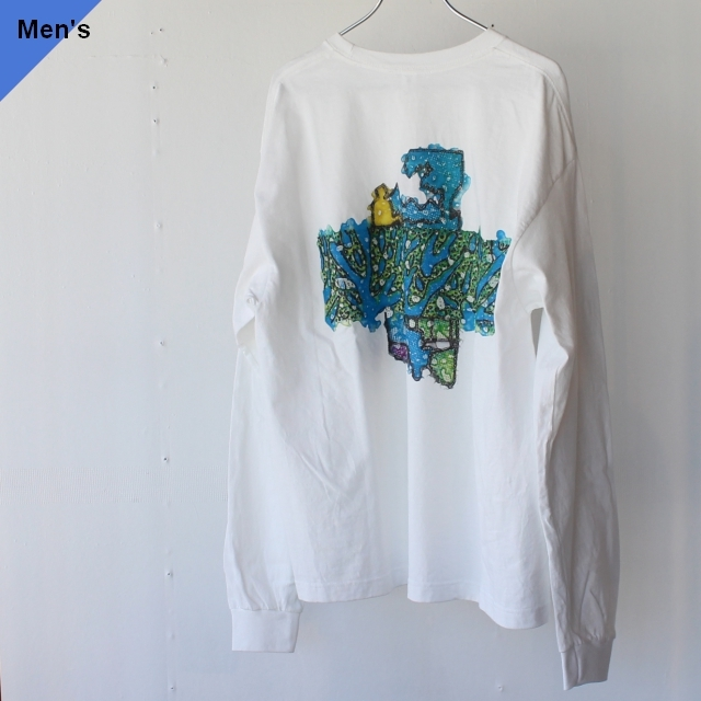 ENDS and MEANS エンズアンドミーンズ Honorable Dischage Pocket L/S Tee ホワイトEM201T004