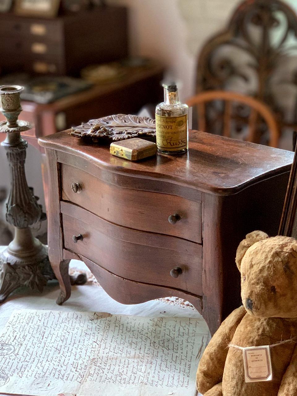 木製 ダークブラウン 2杯引き出し棚