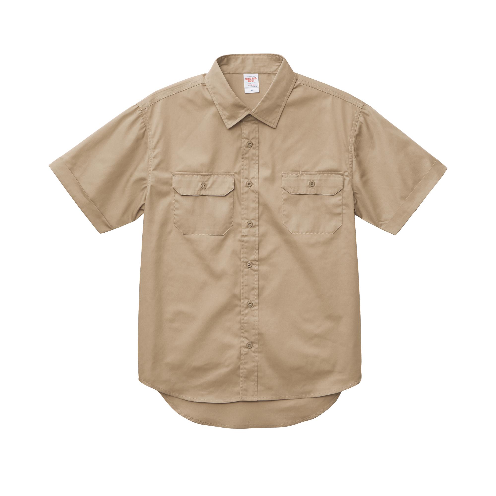 刺繍×ワークシャツ