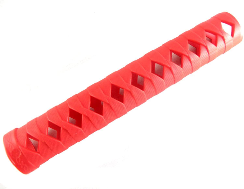 日本刀オプション グリップ 柄巻き 24.4cm 【赤】