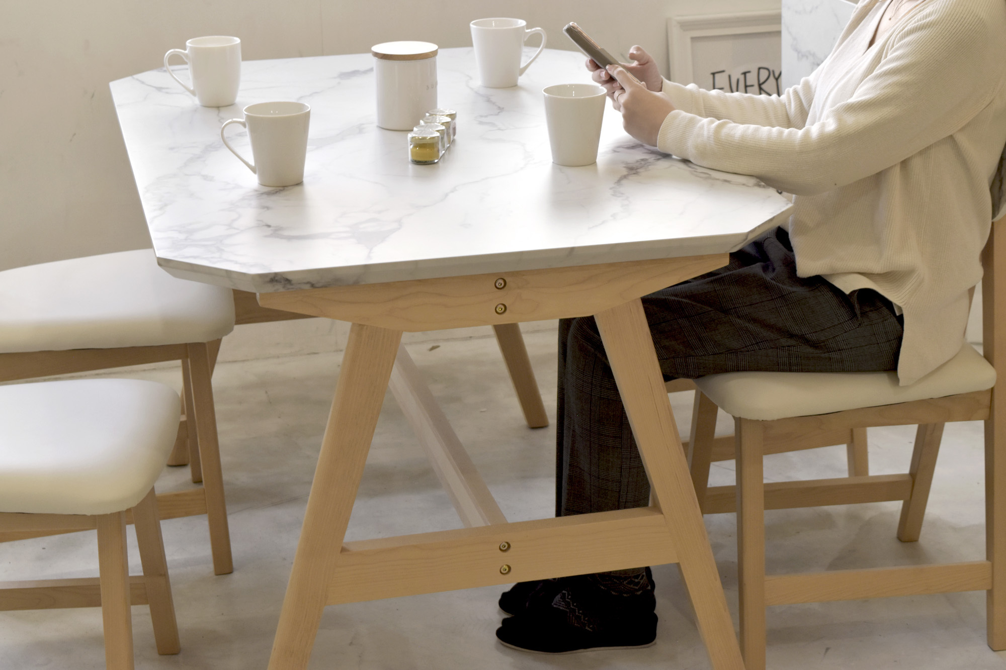 Marble Dining Table 1210 / 大理石モダンスタイル 大理石調 ダイニングテーブル 1210