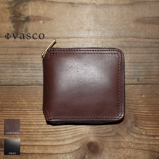 vasco レザーZIPショートウォレット LEATHER VOYAGE ROUND ZIP SHORT WALLET VSC-700Z (CORTESIA)