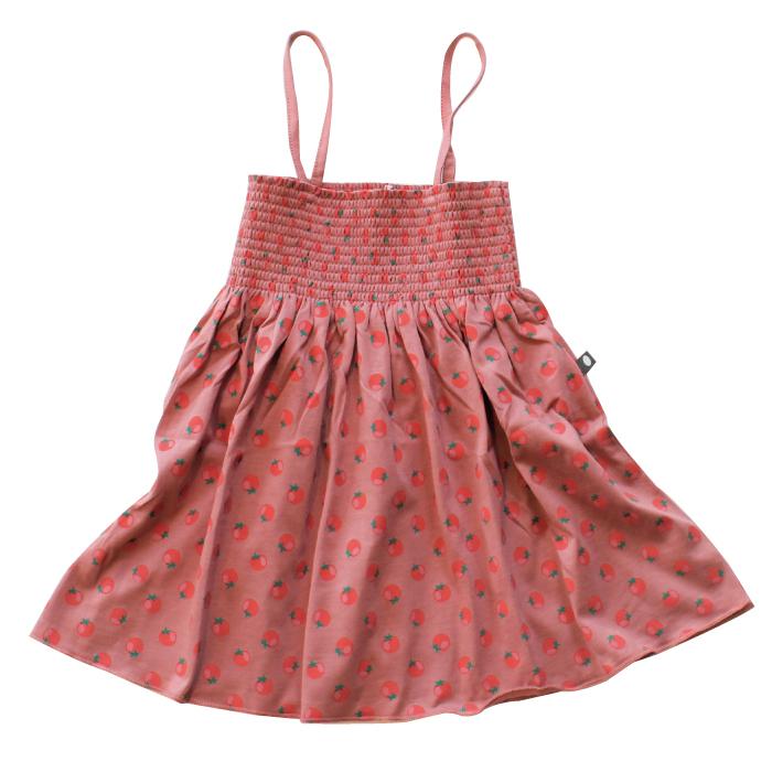 Oeuf smock dress / tomato (4Y)