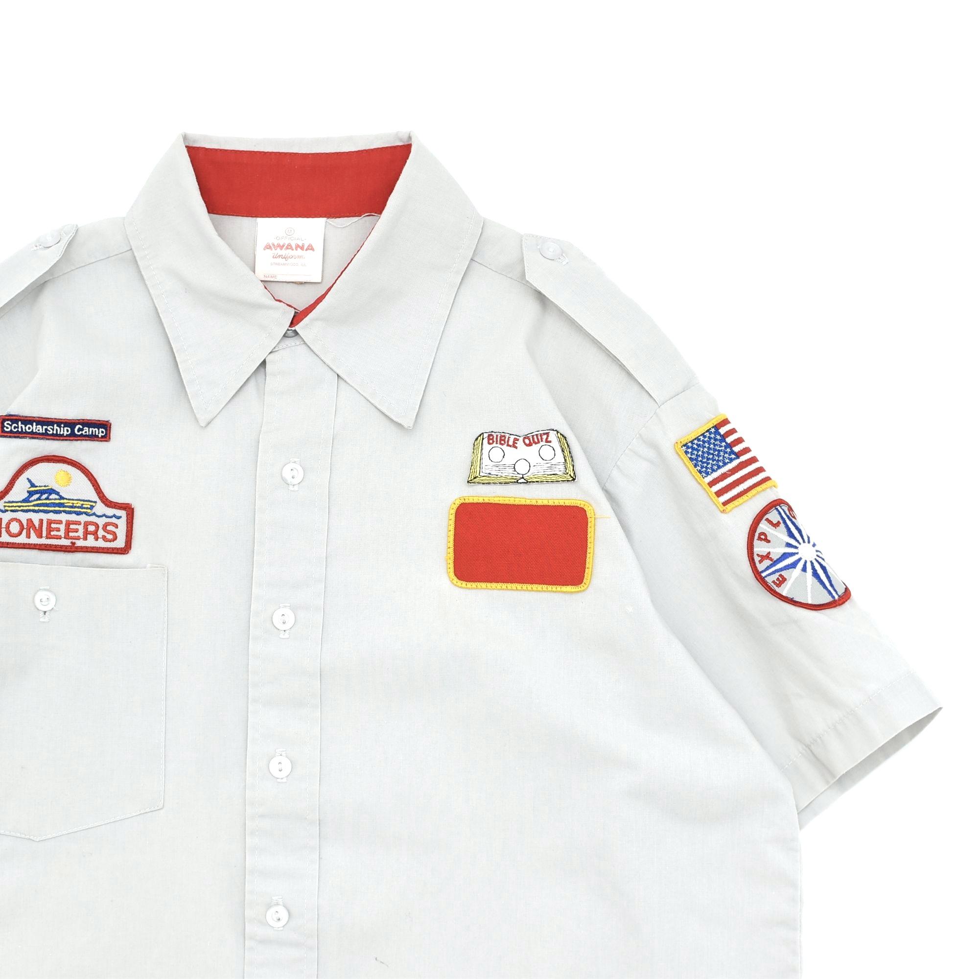 Vtg AWANA clubs uniform work shirt