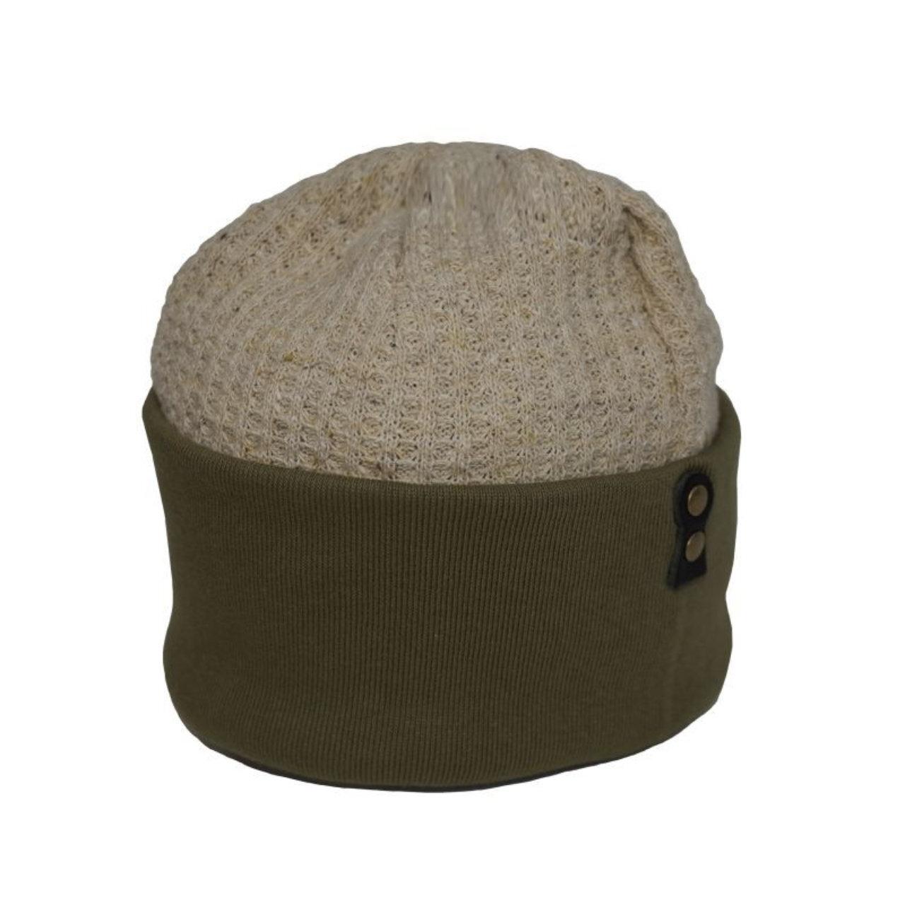 Original John | KNIT CAP - Olive/Beige [HTB381]
