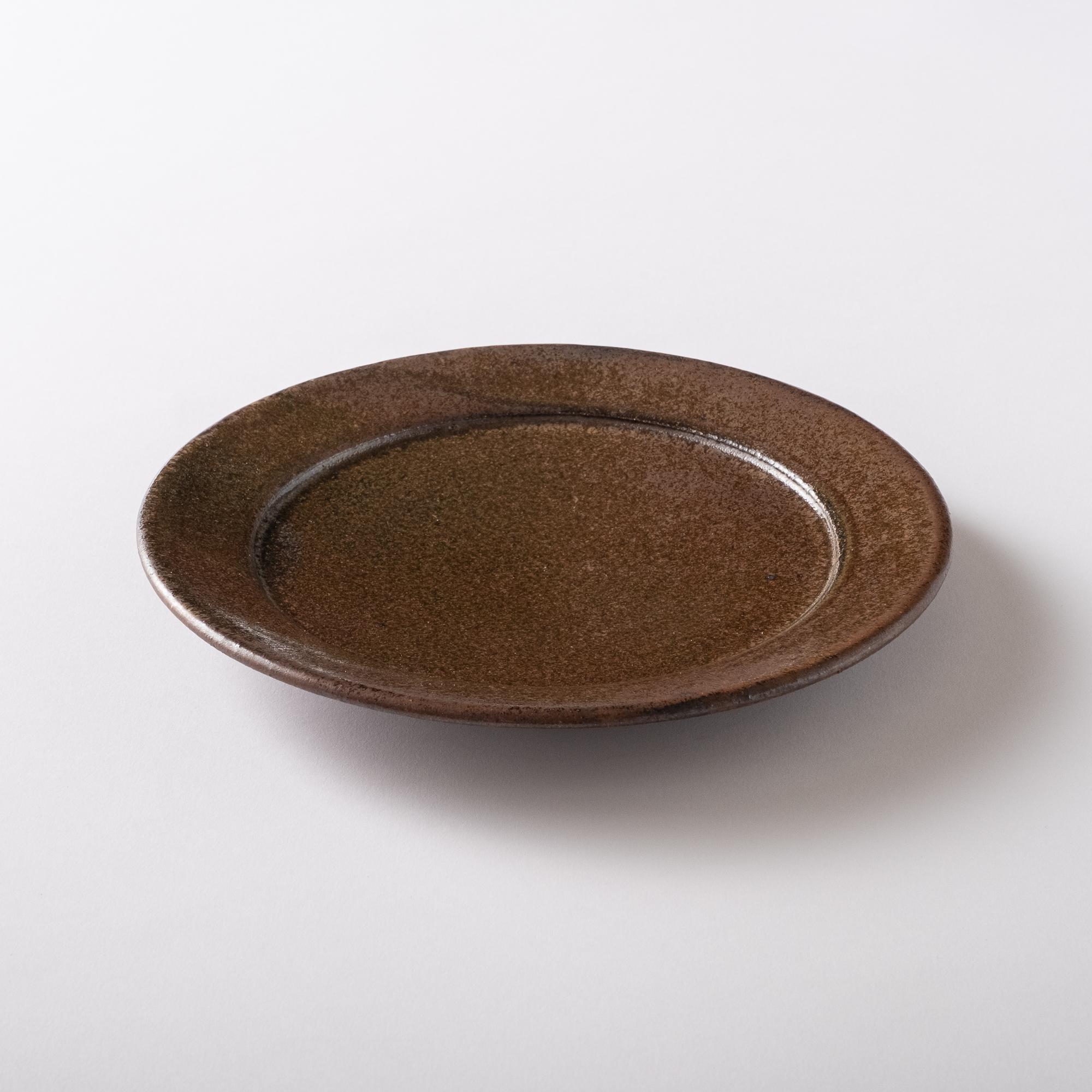 【瀬戸焼】朝食セット皿「ショコラブラウン 22.0リムプレート」