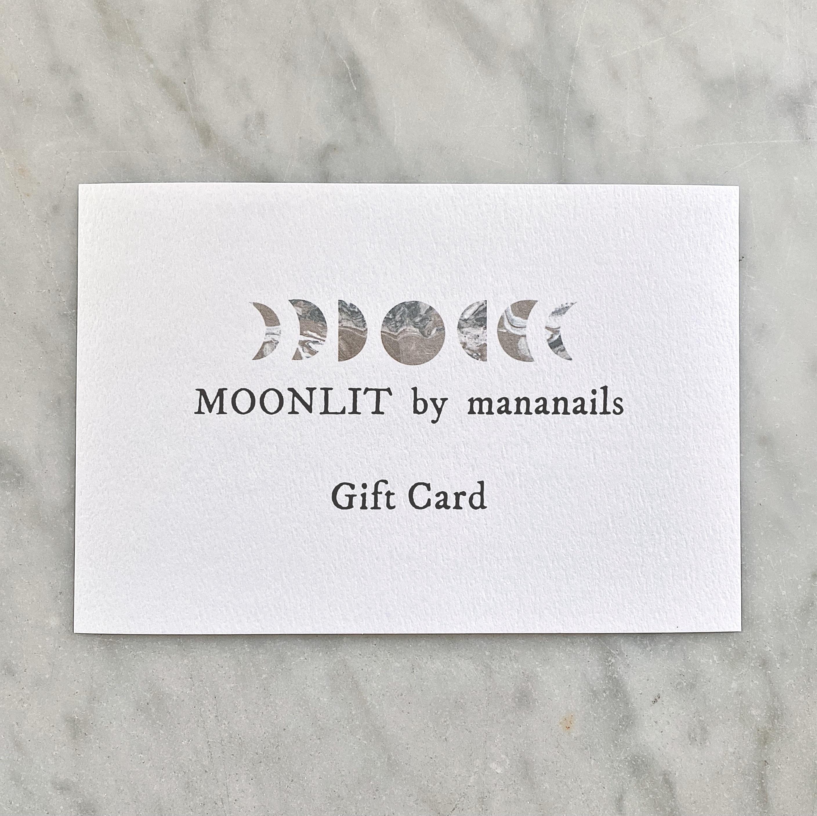 MOONLIT Gift Card (担当:manami)