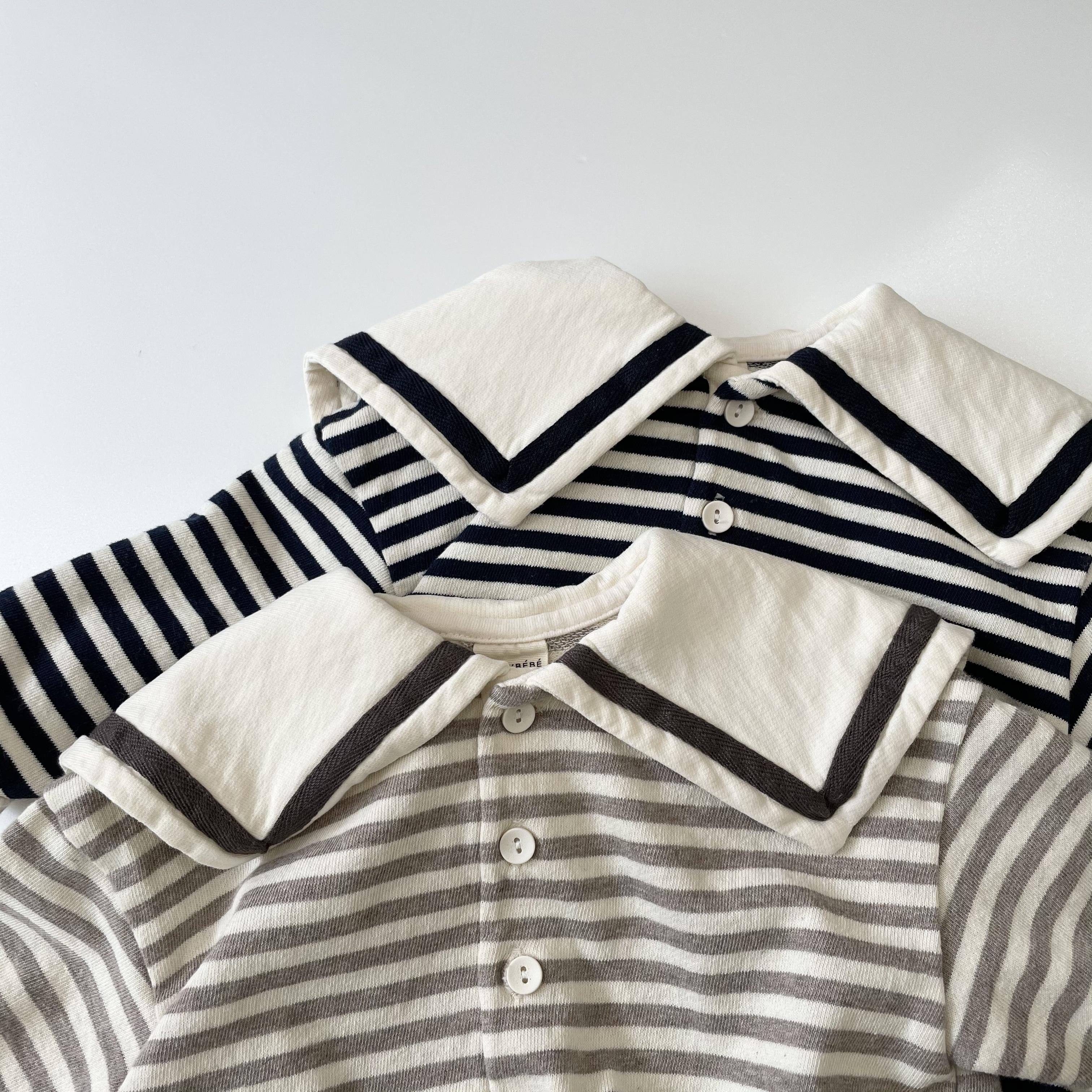 NO.1195 border sailor suit