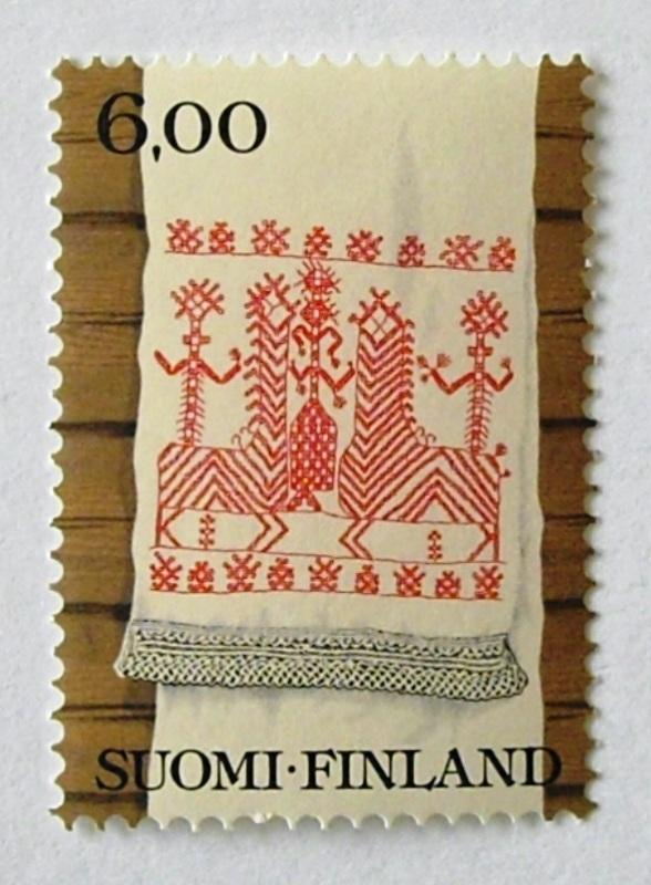 刺繍クロス / フィンランド 1980