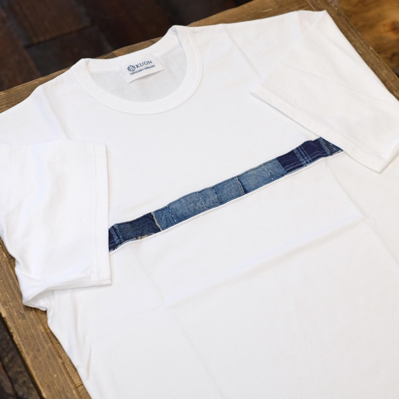 KUON(クオン) アップサイクル襤褸 トリミングTシャツ ホワイト