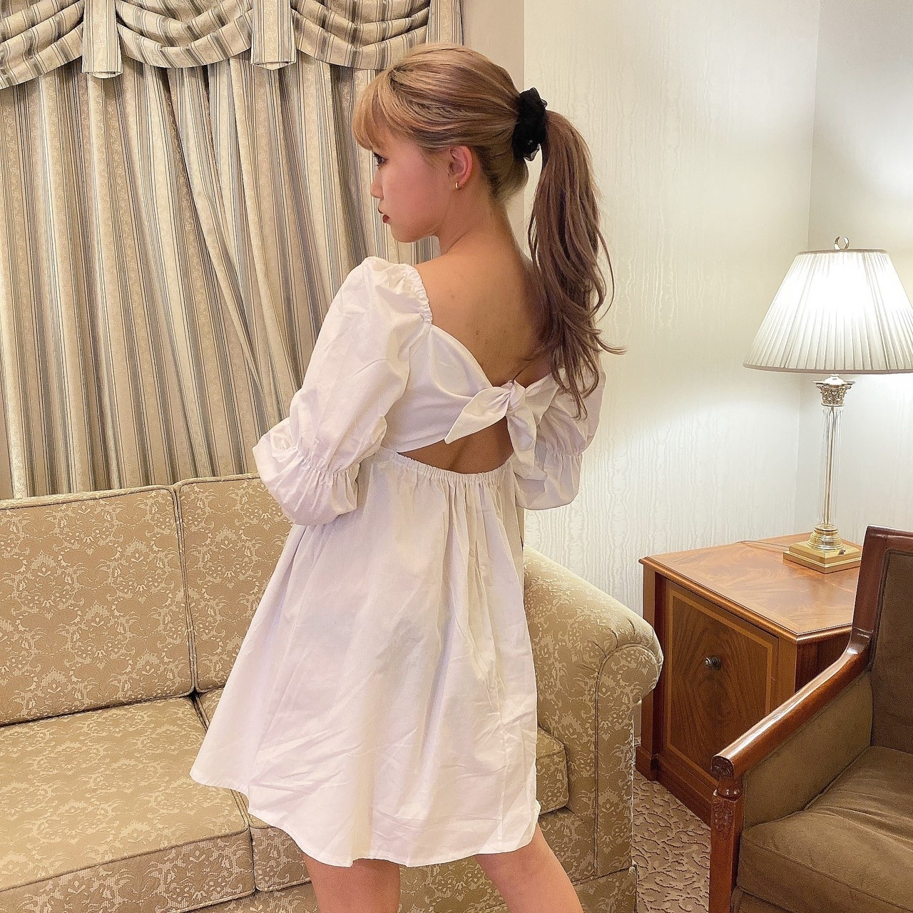 【Belle jour】baby back ribbon onepiece