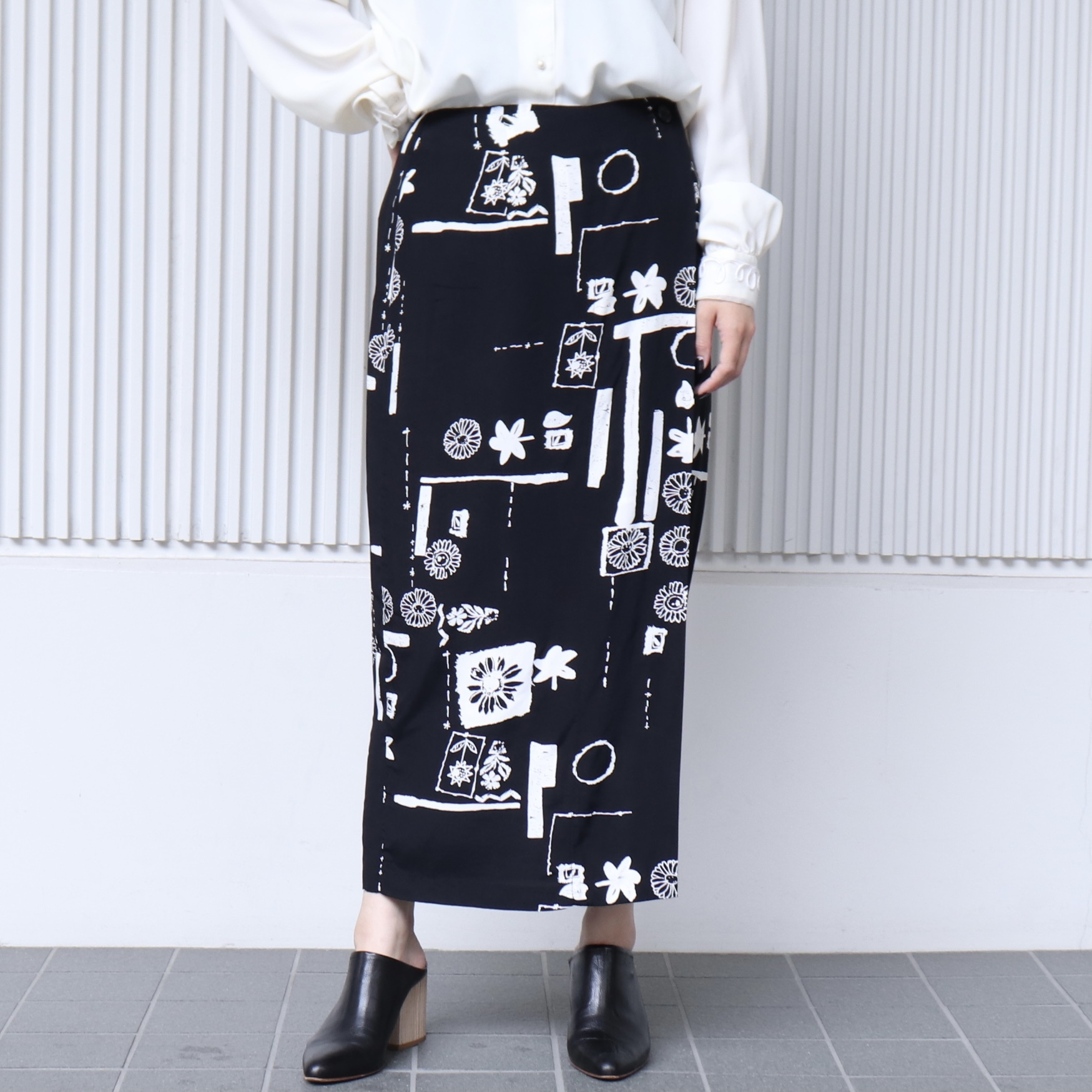 90年代 フラワープリント柄 ラップスカート アメリカ 古着 L