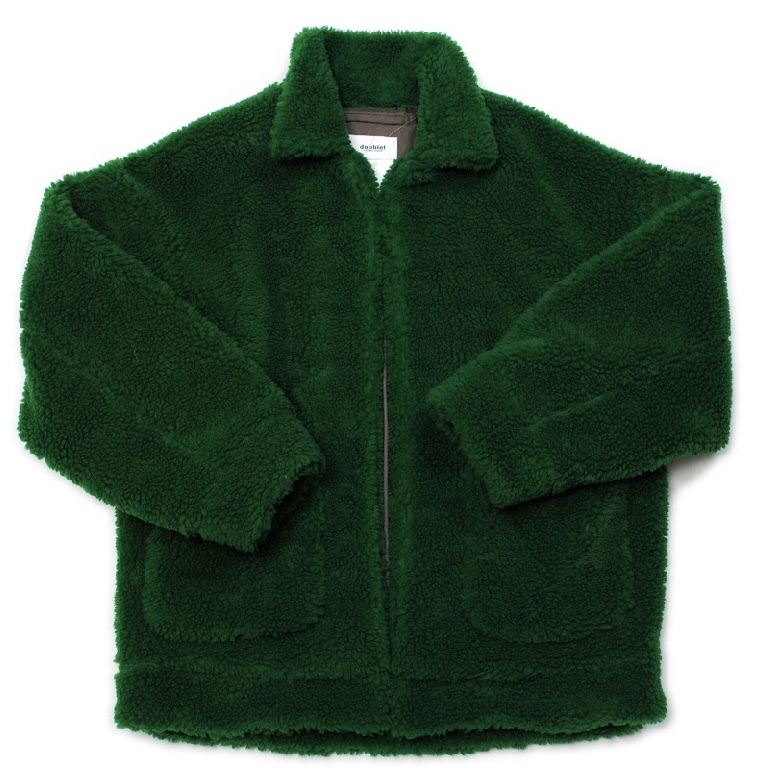 【doublet】HAND-PAINTED RECYCLE FUR JACKET