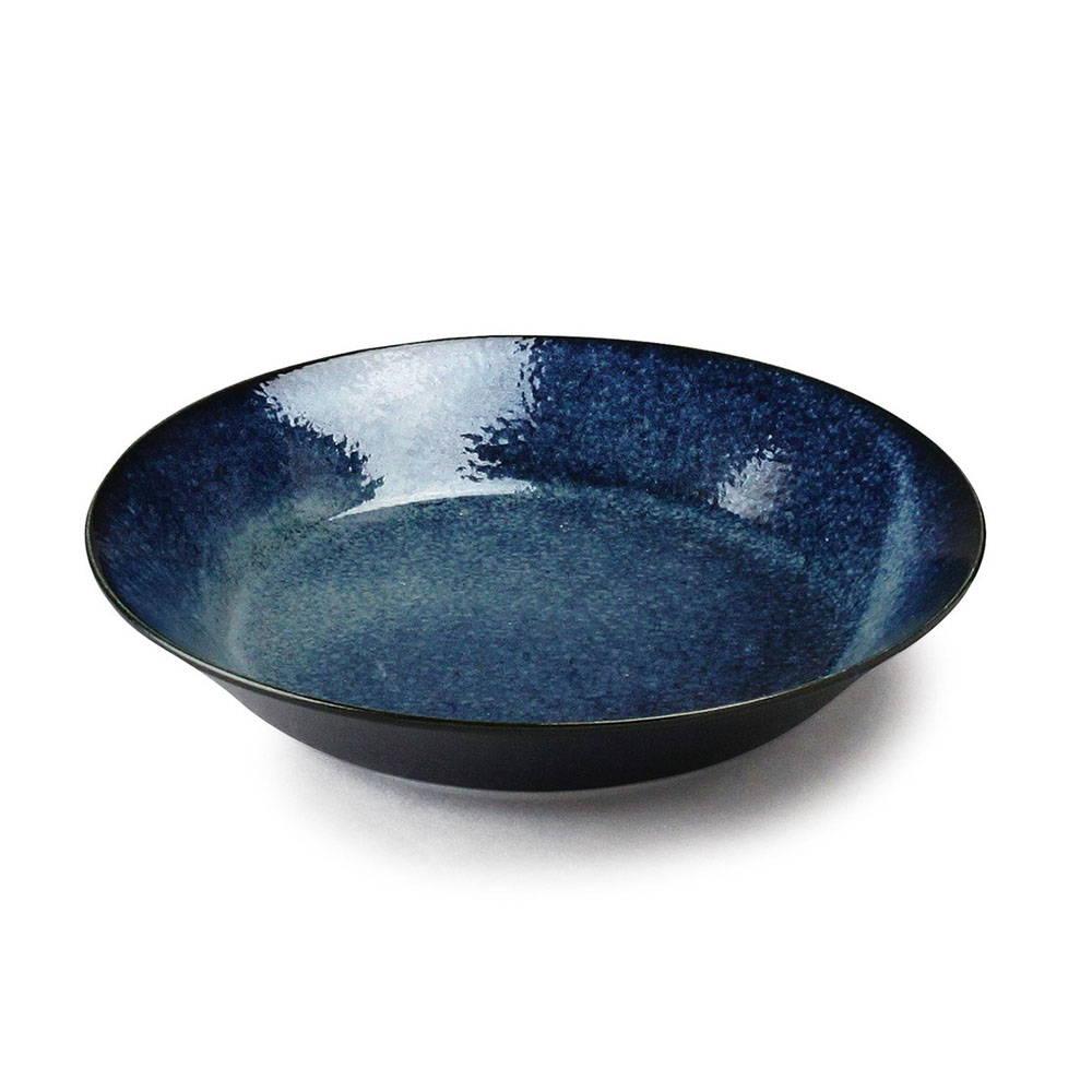 「ナチュラルカラー Natural Color」スタンダード カレー/パスタ皿 プレート 直径20×高さ3.8cm ネイビー 美濃焼 517016