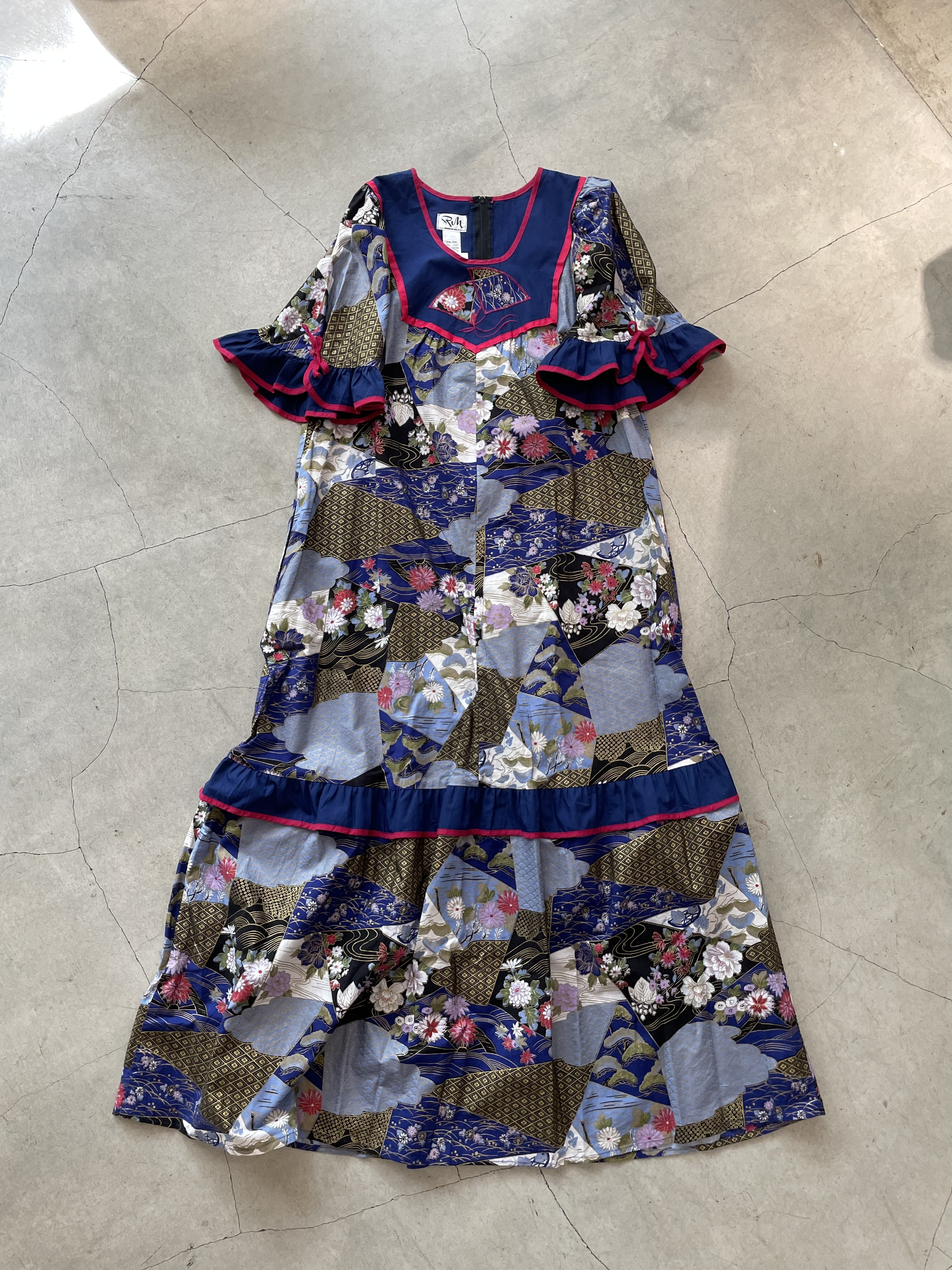 made in U.S.A vintage Japanese pattern onepiece