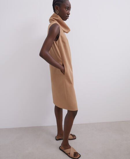 SLEEVELESS DRESS WITH ROUNDED COLLAR [291061427111]