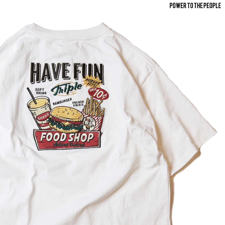 <JUNK FOOD>バック刺繍Tee NO1501025