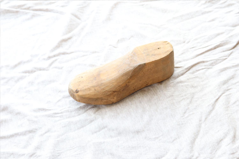 【スウェーデン】木製の靴型(小)