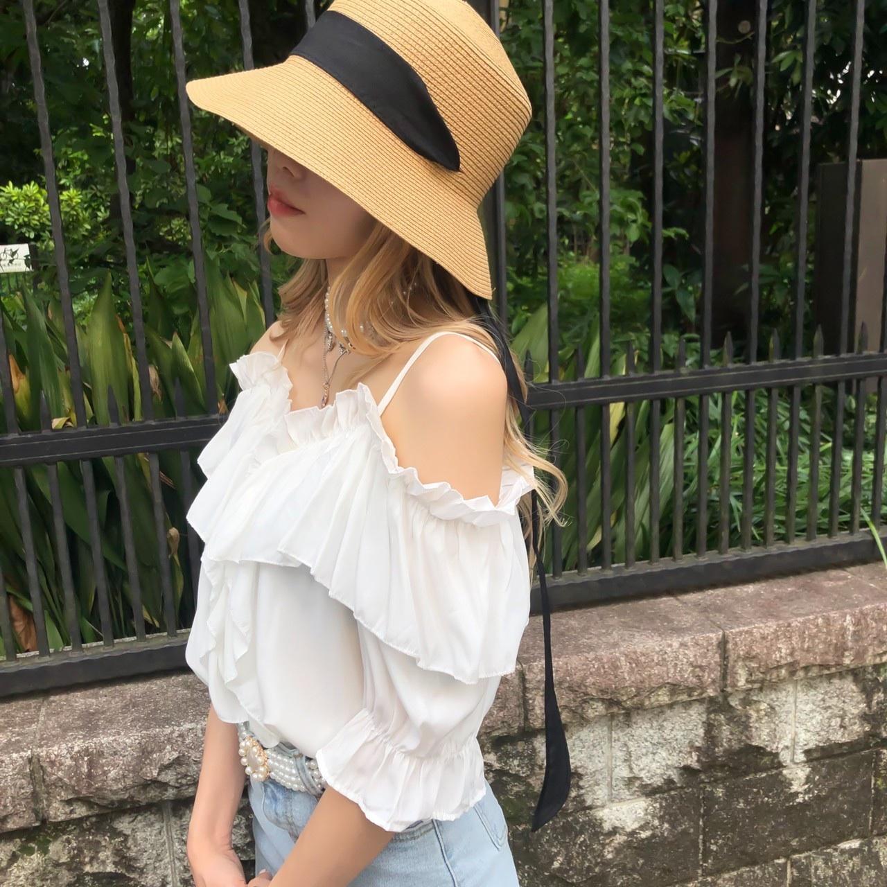 NANA *off shoulder frill blouse