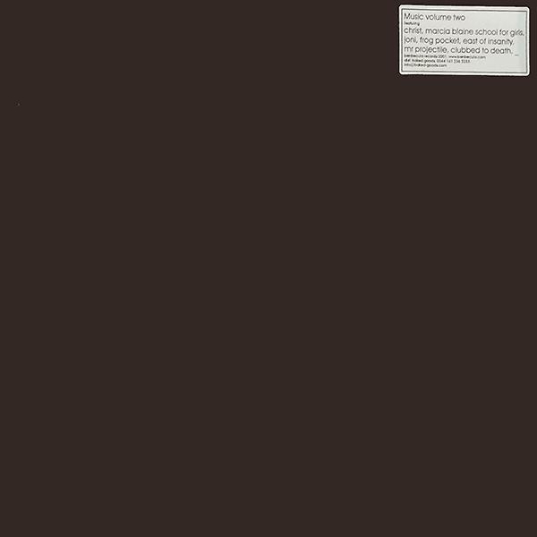 "Various – Music Volume Two (12"") - 画像1"