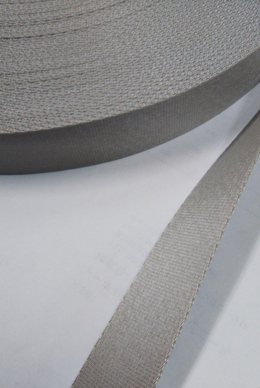 ナイロン サテン調 朱子織 50㎜幅 カラー 50m巻