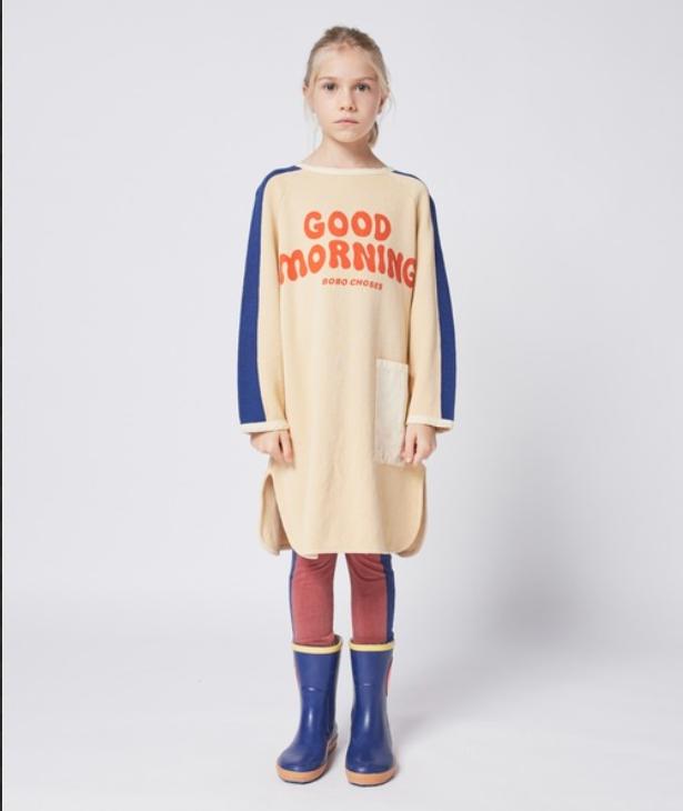 【Bobo Choses】Good Morning fleece dress