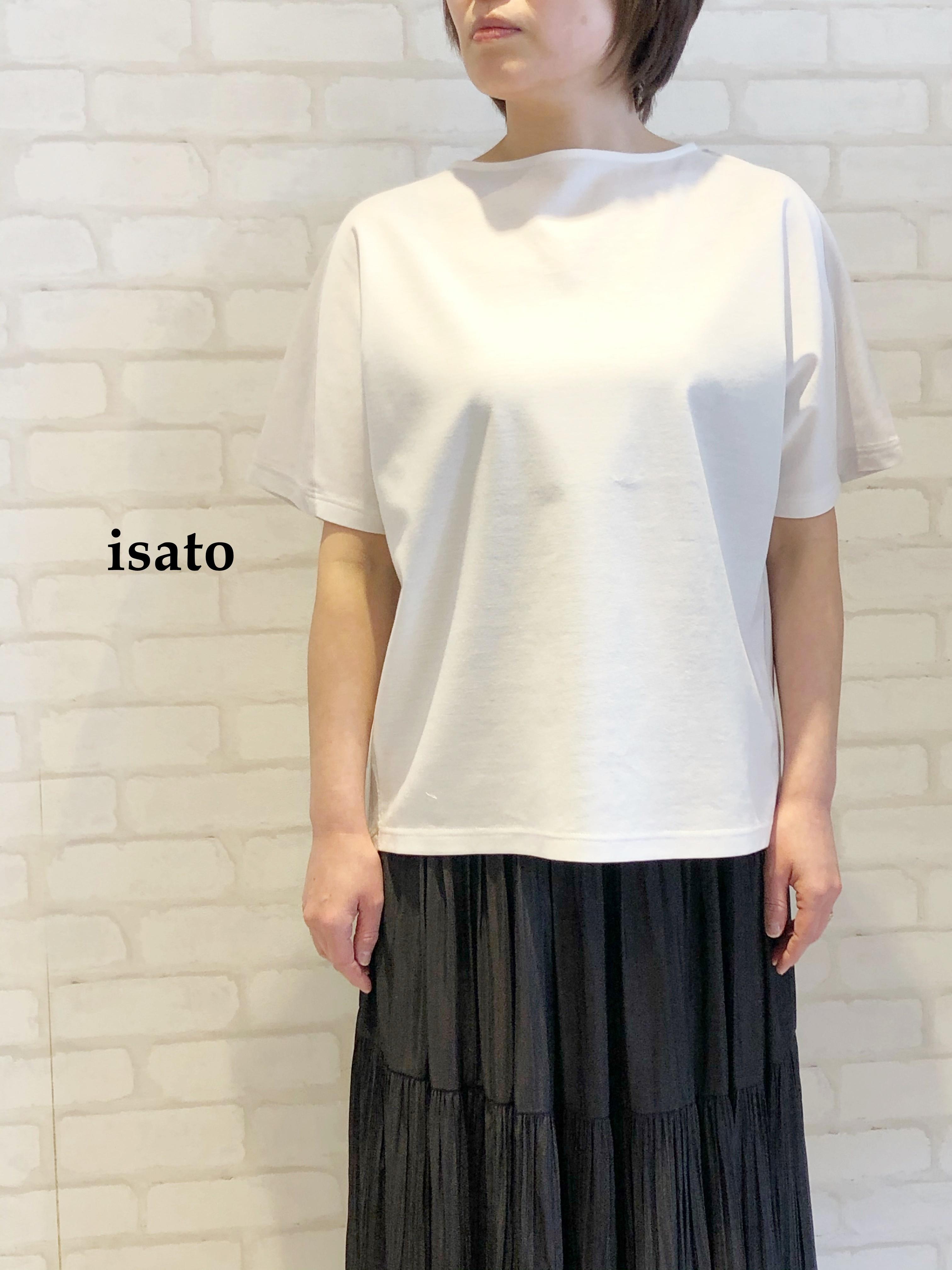 【再入荷】isato/バックタックデザインカットソー/IS-T-061(オフホワイト)