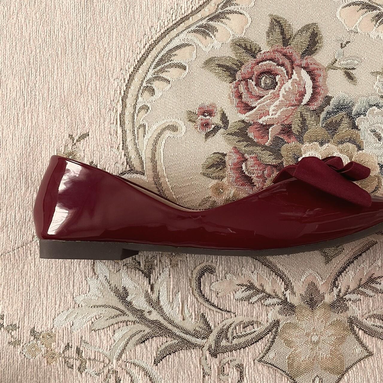 再販【meltie】square toe ribbon shoes