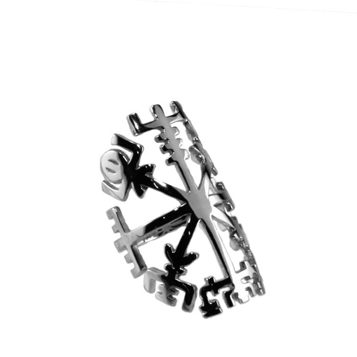 タトゥーリング 【Vegvisir - Silver】