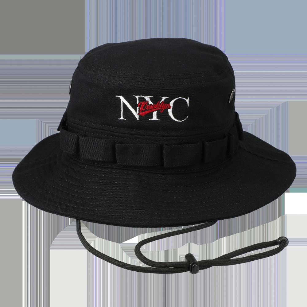 NYC Logo Bucket Hat BLACK