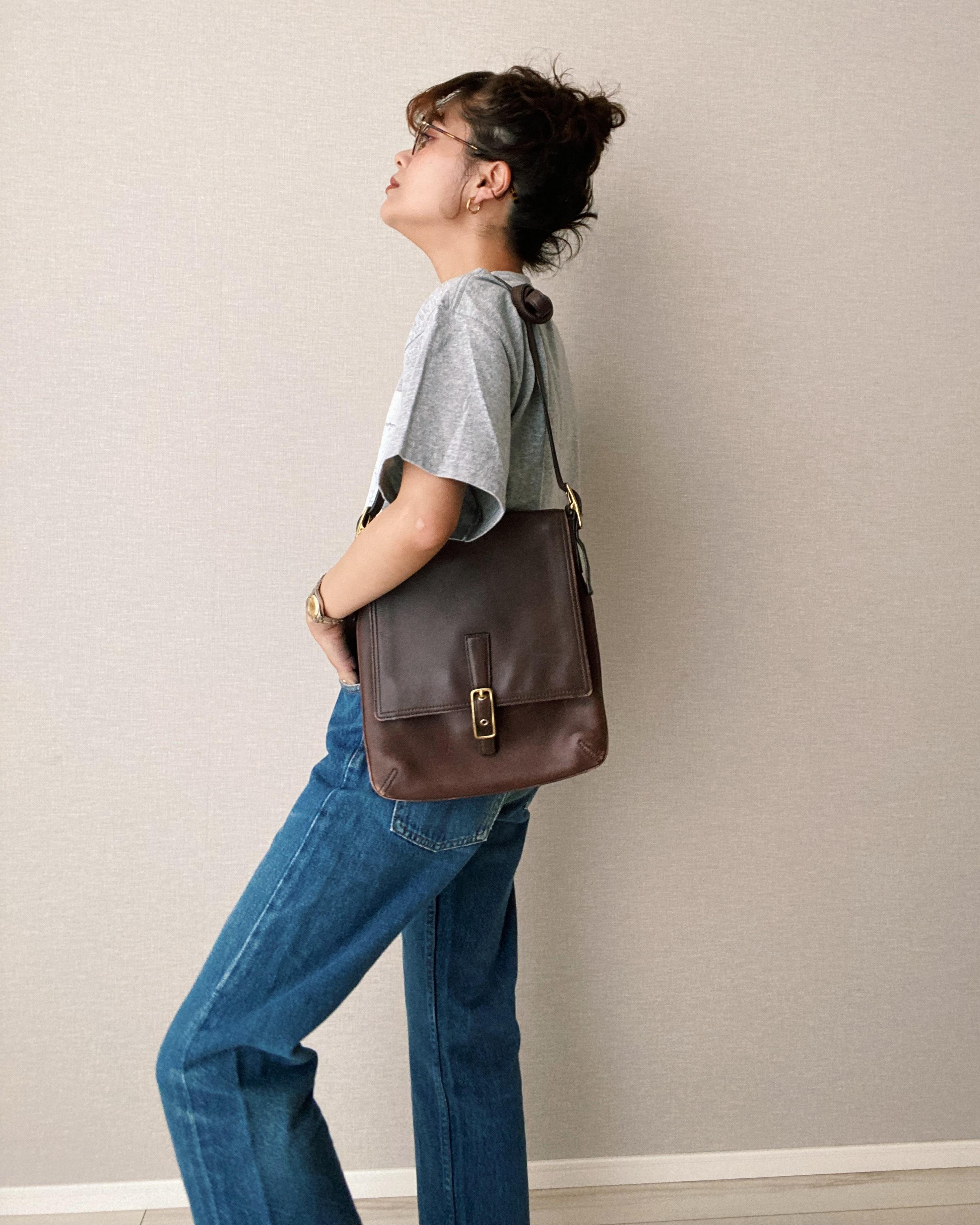 (AC108)Old COACH shoulder bag