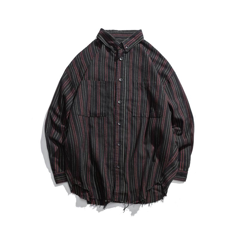 【MEN'S】ストライプ ロングスリーブシャツ