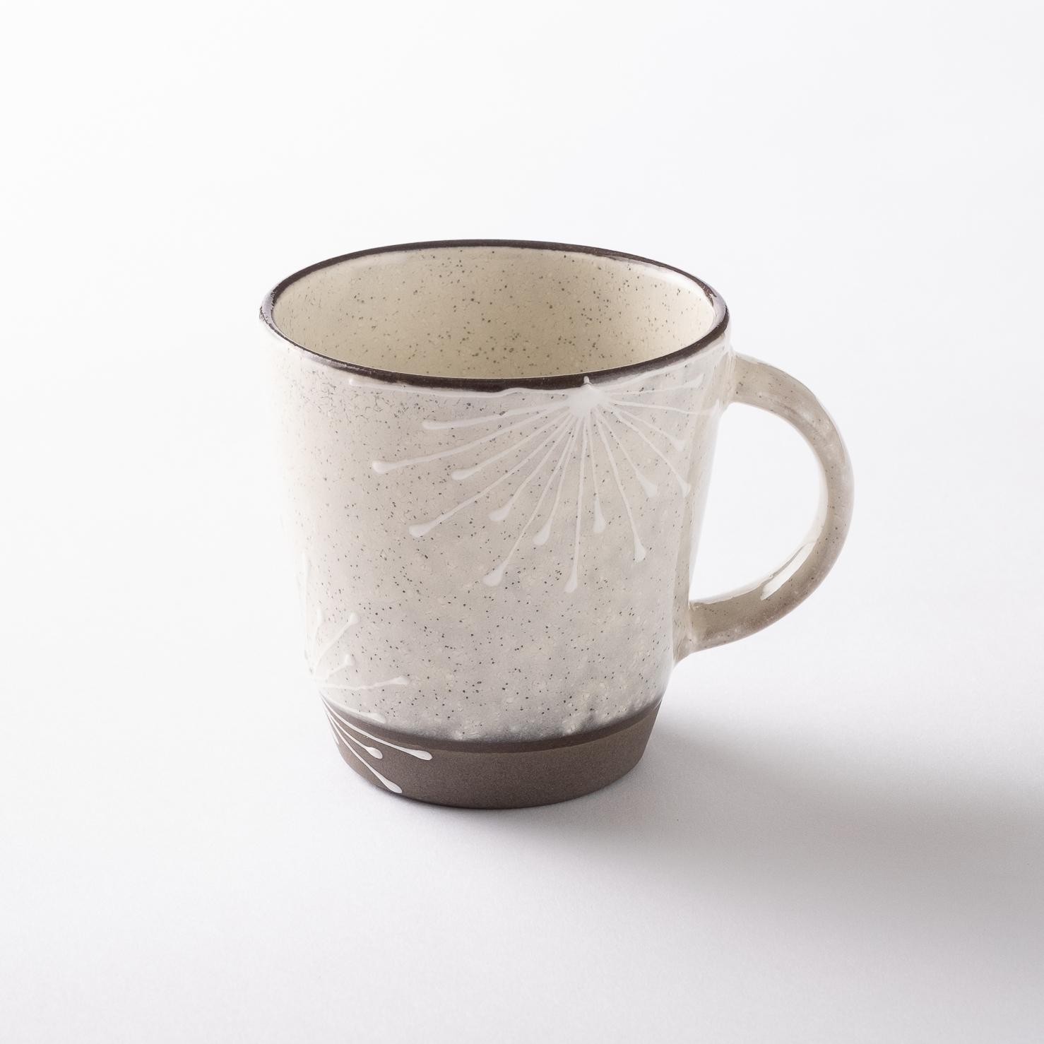 【美濃焼】マグカップ「いっちん マグ 花二重白」