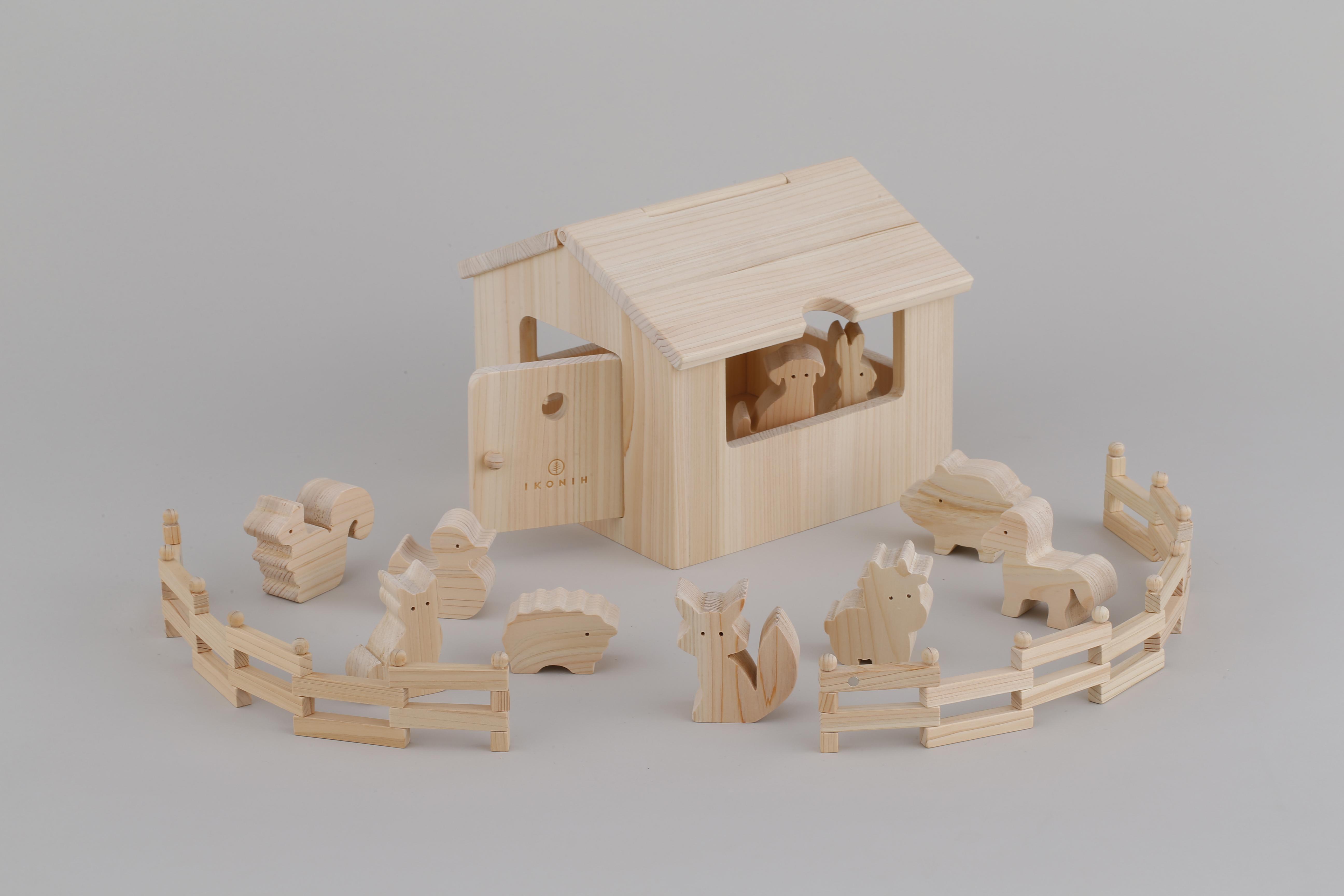 アイコニーハウス IKONIH HOUSE ※送料無料   木のおもちゃ 誕生日祝い ごっこ遊び