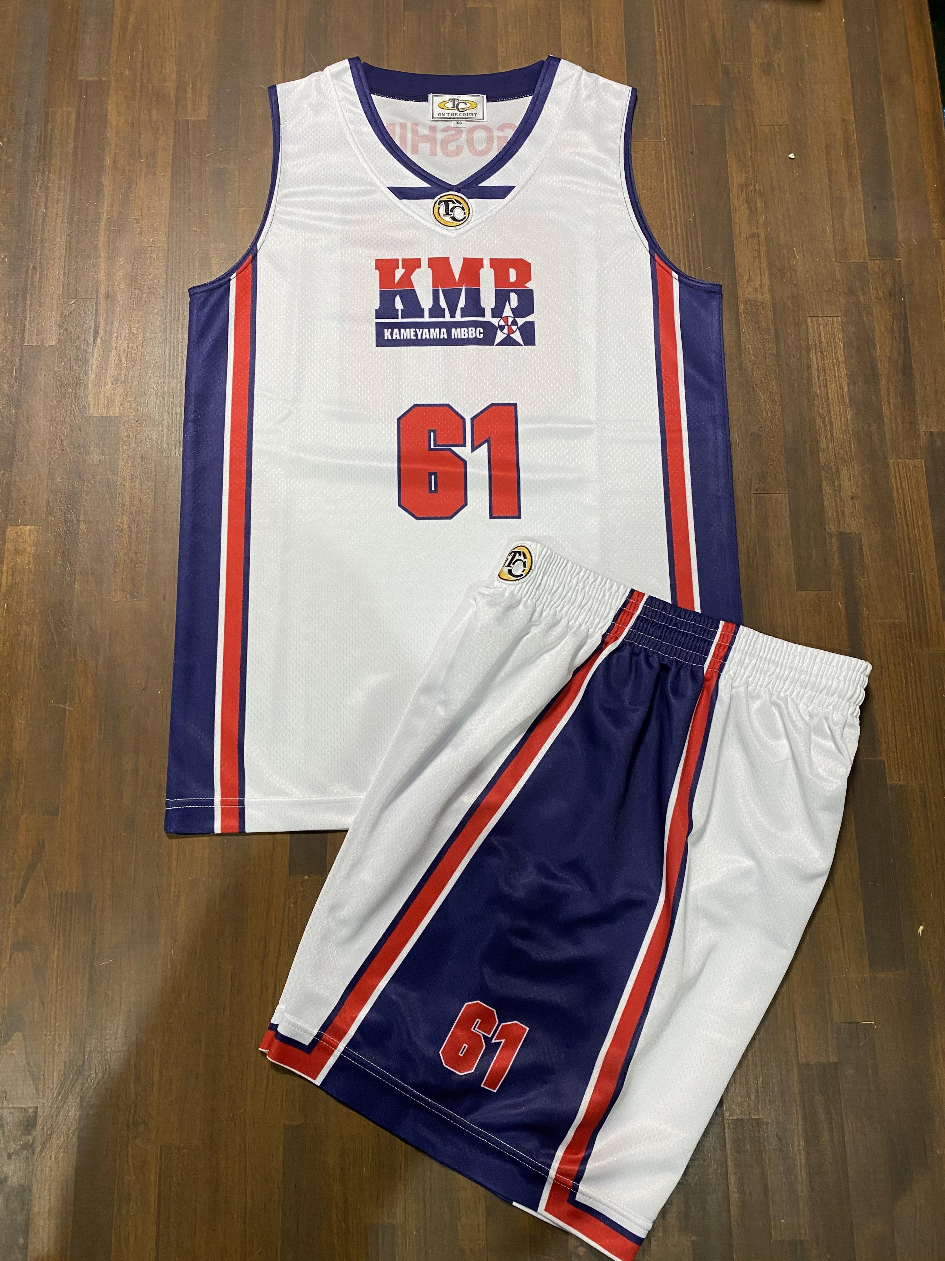 【デザインサンプル】亀山ミニバスケットボールクラブ (U12・男子)  昇華ユニフォーム