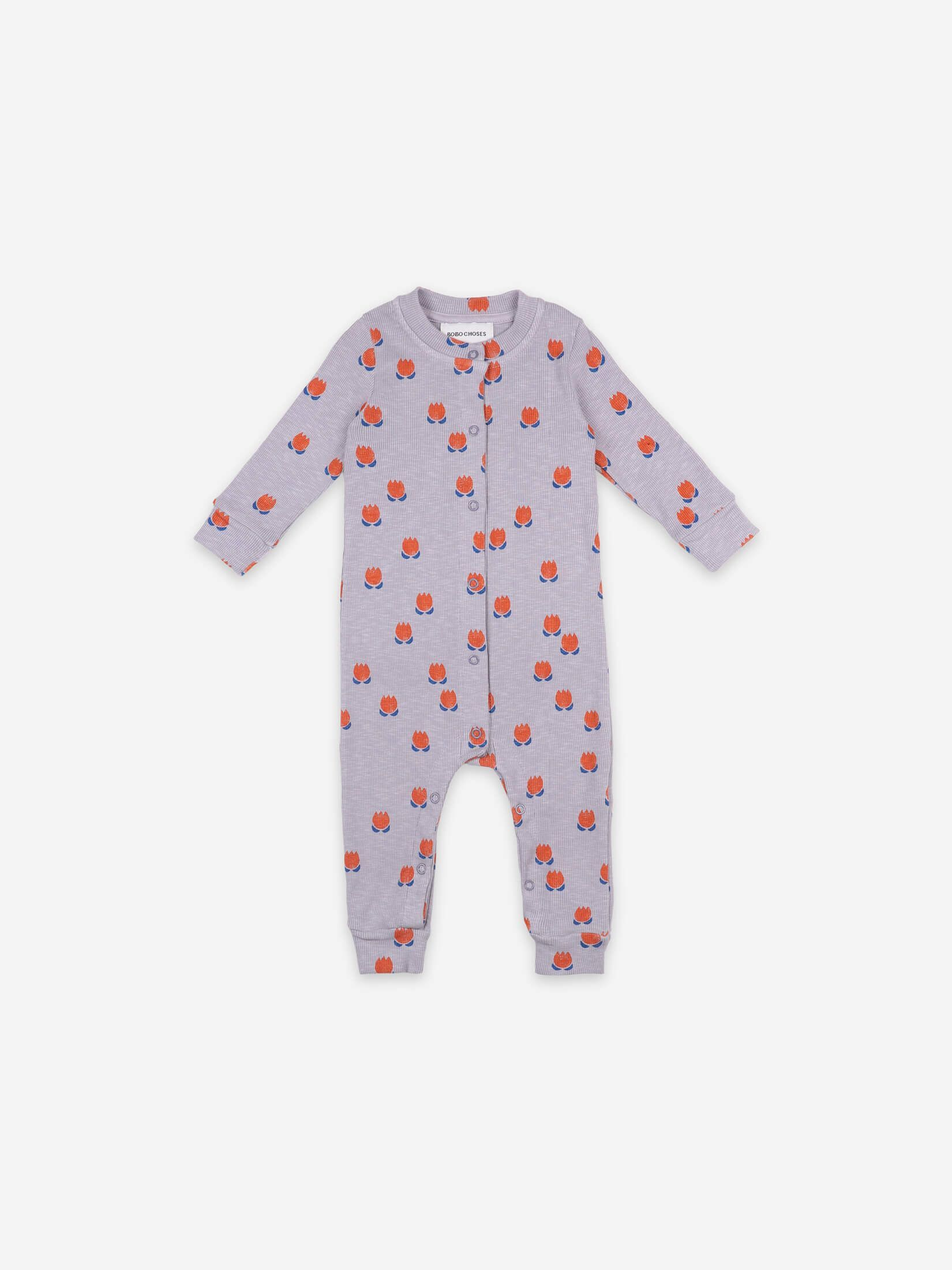 BOBO CHOSES ボボショセス Chocolate Flowers All Over Rib Overall size:6-12M(70-80)